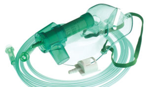 Air-entrainment mask with adjustable Venturi valve (24%-50% FiO2)