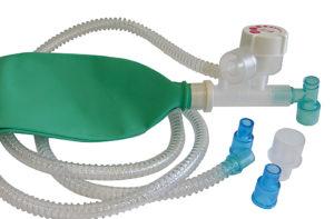 Unità respiratoria tipo Mapleson C con valvola APL - Sistema di sicurezza sovrapressione tarato a 60 cmH2O