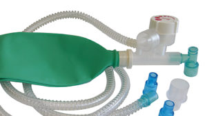 Mapleson C manual breathing unit with APL valve - 40 cmH2O pressure relief valve