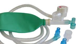 Unità respiratoria tipo Mapleson C con valvola APL - Sistema di sicurezza sovrapressione tarato a 40 cmH2O