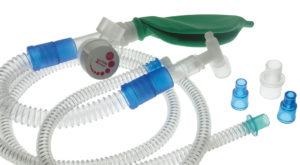 Unità respiratoria tipo Mapleson F con valvola APL - Sistema di sicurezza sovrapressione tarato a 40 cmH2O