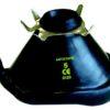 Maschera oronasale in gomma nera antistatica riutilizzabile