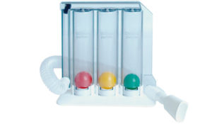 GYMFLO breathing exerciser with three chambers 600, 900, 1200 cc REF